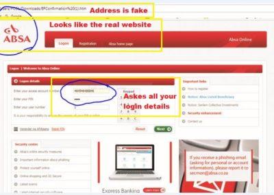 ABSA Scam mail 2