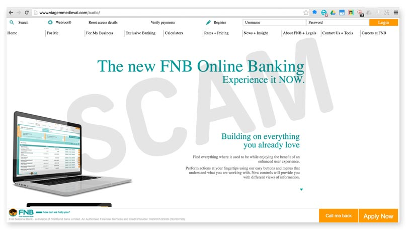 fnb internet banking contact number